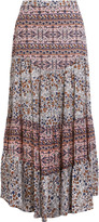 See by Chloe Floral-print cotton-voile maxi skirt