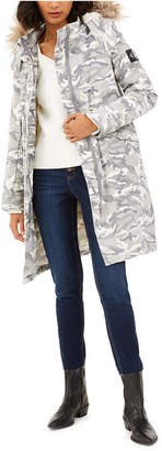 Calvin Klein Jeans Hooded Camo-Print Parka With Detachable Puffer Jacket