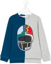 Stella McCartney color block printed sweatshirt - kids - Cotton - 3 yrs