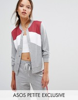 Asos Bomber Jacket in Color Block Co-ord