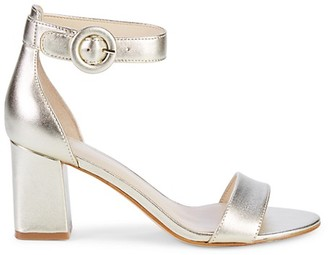 Marc Fisher Platino Leather Heeled Sandals