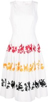 Carolina Herrera embroidered sleeveless A-line dress