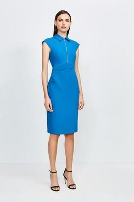 Karen Millen Zip Collar Pencil Dress
