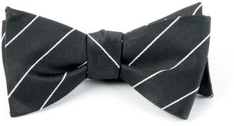 Tie Bar Pencil Pinstripe Bullet Grey Bow Tie