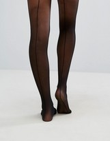 Wolford Control Top Back Seam 10 Denier Tights