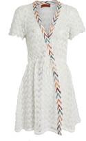 Missoni Mare Chevron-Trimmed Wrap Dress