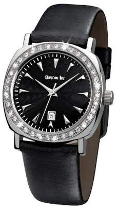 Glamour World Glamour Time Ladies Watch GT200ST1-1-in with Black Dial and Black Leather Strap