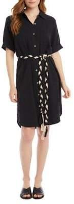 Karen Kane Braided Belt Shirtdress