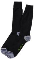 Robert Graham Jacko Tonal Pattern Crew Socks