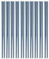 East Majik Anti-skip Chopsticks 10 Pairs Chopsticks Wheat Straw Tableware - Blue