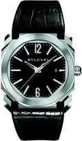 Bvlgari Octo stainless steel and alligator-leather watch