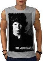 Jim Morrison Singer Poet Men XL Sleeveless T-shirt | Wellcoda