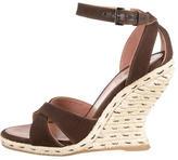 Alaia Espadrille Wedge Sandals