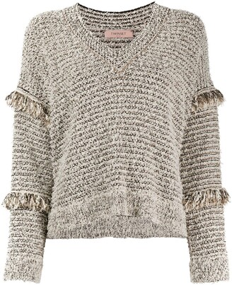 Twin-Set Frayed Sleeves Detail Jumper