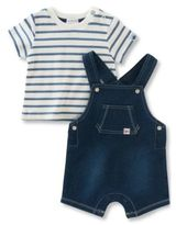 Absorba Babys Two-Piece Shortall and Tee Set