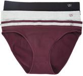 Jessica Simpson Collection Women's Underwear Winetasting - Wine & Heather Gray Cotton Seamless Bikini Set - Women