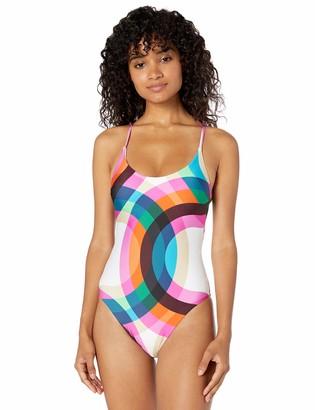 Trina Turk Women's High-Leg Crossback Maillot One Piece Swimsuit