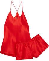 Olivia von Halle - Bella Silk-satin Pajama Set - Red