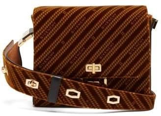 Givenchy Eden Medium Monogram Velvet Messenger Bag - Womens - Brown