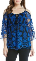 Karen Kane Women's Cold Shoulder Lace Top
