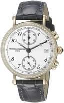 Frederique Constant FC291A2RD5 Women's Classics Swiss Quartz Wrist Watches with Black Band