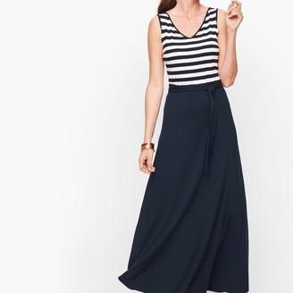 Talbots Sunset Stripe Jersey Maxi Dress