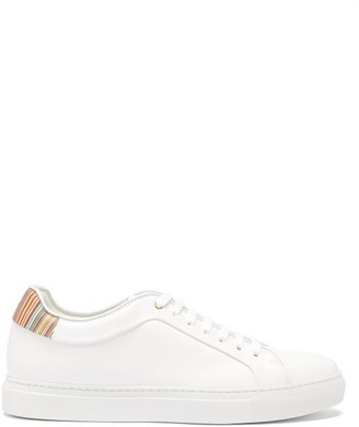 Paul Smith Basso Leather Trainers - Mens - White