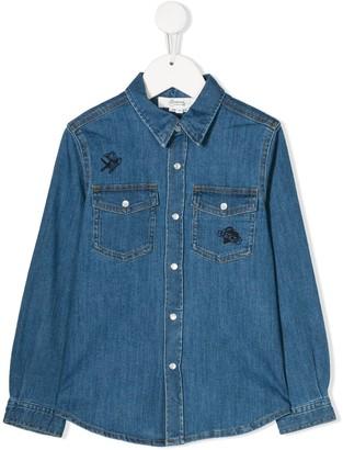 Bonpoint Embroidered Denim Shirt