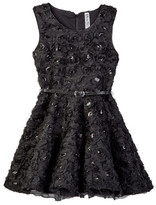 Beautees Lace Soutache Dress (Big Girls)