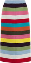 Mary Katrantzou Sigma Striped Knee Length Skirt