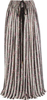 Lanvin Printed silk-chiffon maxi skirt