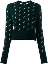 Chloé dark pine horse embroidered jumper