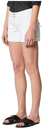 Hudson Croxley Cuffed Shorts in White (White) Women's Shorts