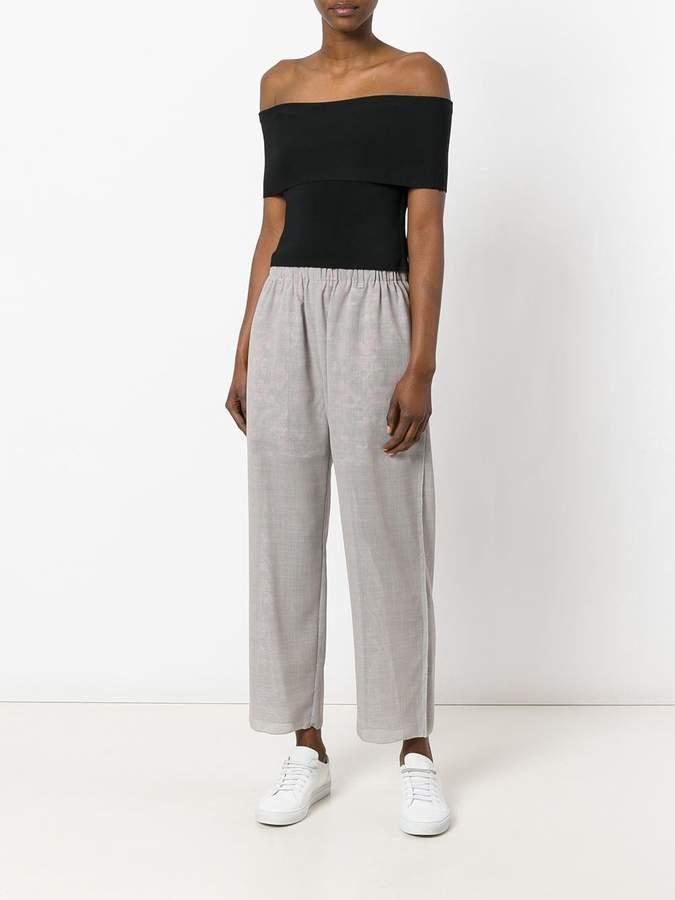 Julien David contrast lining trousers