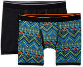 14th & Union Tropical Geo Print & Solid Boxer Briefs - Pack of 2