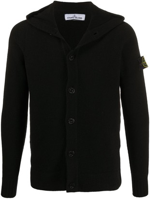Stone Island Logo-Patch Hooded Jumper