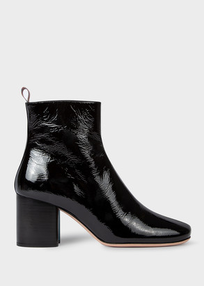 Women's Black Patent Leather 'Moss' Boots
