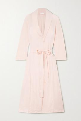 Skin Carina Belted Pima Cotton-jersey Robe - Pink
