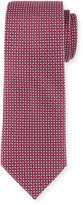 Neiman Marcus Dot-Print Silk Tie, Red