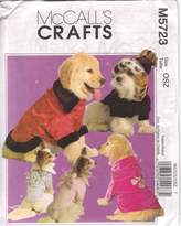 Mccall's M5723 Elegant Pet Coats, All Sizes by