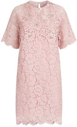 Valentino Floral Lace Mini Dress