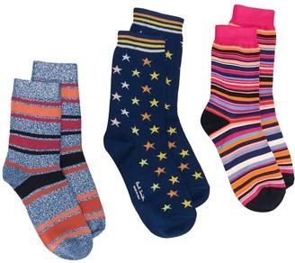 Paul Smith X3 Pack Stars & Stripe Socks