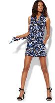 New York & Co. Belted Sleeveless Soho Romper - Floral
