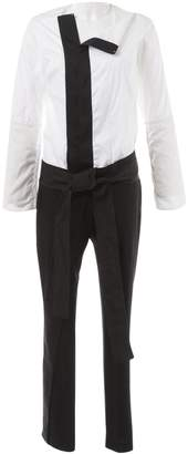 Anne Valerie Hash Black Cotton Jumpsuits