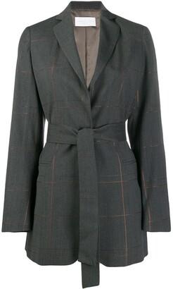 Fabiana Filippi Belted Check Jacket