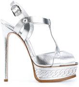 Casadei metallic platform sandals