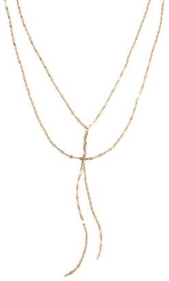 Lana Mega Gloss Blake 14K Yellow Gold Duo Lariat Necklace