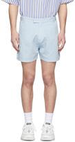 Martin Asbjorn Blue Linen Greenleaf Shorts