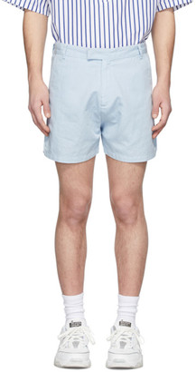 Martin Asbjorn Blue Linen Greenleaf Shorts