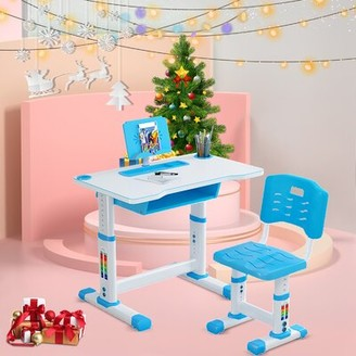 """Isabelle & MaxTM Tracy Children Study 27.5"""" Writing Desk and Chair Set Isabelle & Max Color: Blue"""